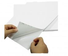 Adesivo Vinil Branco Brilhante para Impressoras a Jato de Tinta ( inkjet)
